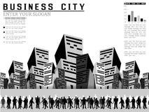 Επιχειρηματίες Infographic σε μια πόλη Στοκ φωτογραφία με δικαίωμα ελεύθερης χρήσης
