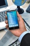Επιχειρηματική εφαρμογή στο έξυπνο τηλέφωνο 05 Στοκ φωτογραφία με δικαίωμα ελεύθερης χρήσης