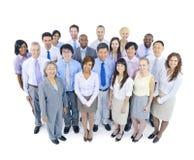 επιχειρηματική μονάδα ανασκόπησης μεγάλη πέρα από το λευκό ανθρώπων Στοκ Εικόνες