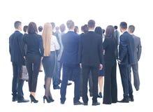 επιχειρηματική μονάδα ανασκόπησης μεγάλη πέρα από το λευκό ανθρώπων Πέρα από την άσπρη ανασκόπηση στοκ φωτογραφία με δικαίωμα ελεύθερης χρήσης