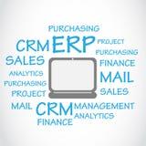 Επιχειρηματικός πόρος που προγραμματίζει το υπόβαθρο cErp διανυσματική απεικόνιση