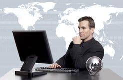 επιχειρηματικό πεδίο exec παγκόσμιο στοκ φωτογραφία