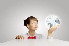 επιχειρηματικό πεδίο παγκόσμιο Στοκ φωτογραφία με δικαίωμα ελεύθερης χρήσης