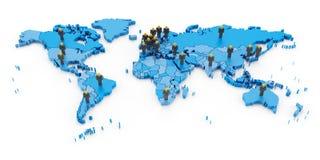 επιχειρηματικό πεδίο παγκόσμιο Στοκ εικόνες με δικαίωμα ελεύθερης χρήσης