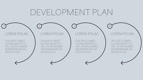 επιχειρηματικό σχέδιο ανάπτυξης με τέσσερα εύκολα βήματα απεικόνιση αποθεμάτων