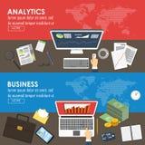 Επιχειρηματικό σχέδιο και σχέδιο μάρκετινγκ Διανυσματική απεικόνιση