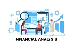 Επιχειρηματιών εμπορικές στατιστικές εργασίας ομάδων γυναικών ανδρών φυλών μιγμάτων έννοιας analytics γραφικών παραστάσεων 'brain διανυσματική απεικόνιση