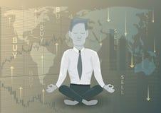Επιχειρηματιών στην απόφαση χρηματοδότησης διανυσματική απεικόνιση
