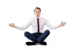 Επιχειρηματιών της Zen στη γιόγκα θέτει Στοκ εικόνες με δικαίωμα ελεύθερης χρήσης