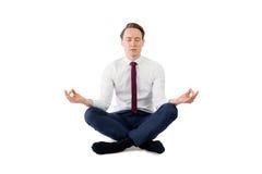 Επιχειρηματιών της Zen στη γιόγκα θέτει Στοκ φωτογραφία με δικαίωμα ελεύθερης χρήσης