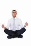 Επιχειρηματιών της Zen στο λωτό θέτει Στοκ Εικόνες
