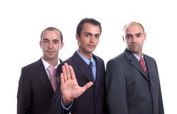 επιχειρησιακά άτομα τρία στοκ εικόνες με δικαίωμα ελεύθερης χρήσης