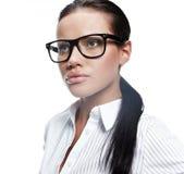 επιχειρησιακά γυαλιά που φορούν τη γυναίκα Στοκ φωτογραφία με δικαίωμα ελεύθερης χρήσης