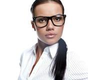 επιχειρησιακά γυαλιά που φορούν τη γυναίκα Στοκ Εικόνα
