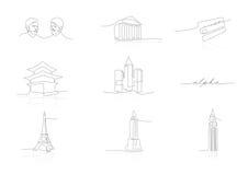 Επιχειρησιακά εικονίδια δύο Στοκ εικόνα με δικαίωμα ελεύθερης χρήσης