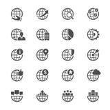 Επιχειρησιακά επίπεδα εικονίδια Στοκ φωτογραφία με δικαίωμα ελεύθερης χρήσης