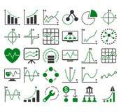 Επιχειρησιακά διαγράμματα με τα τετραγωνικά διανυσματικά εικονίδια σημείων Στοκ φωτογραφία με δικαίωμα ελεύθερης χρήσης