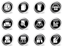 Επιχειρησιακά διανυσματικά εικονίδια Στοκ εικόνες με δικαίωμα ελεύθερης χρήσης