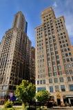 Επιχειρησιακά κτήρια του Σικάγου, Ιλλινόις Στοκ φωτογραφία με δικαίωμα ελεύθερης χρήσης