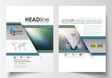 Επιχειρησιακά πρότυπα για το φυλλάδιο, περιοδικό, ιπτάμενο, βιβλιάριο, έκθεση Πρότυπο σχεδίου κάλυψης, διανυσματικό σχεδιάγραμμα, απεικόνιση αποθεμάτων