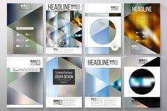 Επιχειρησιακά πρότυπα για το φυλλάδιο, το ιπτάμενο ή το βιβλιάριο Αφηρημένη πολύχρωμη ανασκόπηση Στοκ Εικόνα