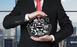Επιχειρησιακά σύμβολα εκμετάλλευσης επιχειρηματιών Στοκ φωτογραφίες με δικαίωμα ελεύθερης χρήσης