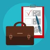 Επιχειρησιακά τσάντα και έγγραφα Εικονίδιο εργασίας, εξοπλισμός εργασίας διάνυσμα ελεύθερη απεικόνιση δικαιώματος