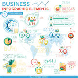 Επιχειρησιακά infographic στοιχεία Στοκ Φωτογραφίες