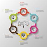 Επιχειρησιακές έννοιες κύκλων με τα εικονίδια Πρότυπο διάνυσμα διανυσματική απεικόνιση