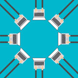 Επιχειρησιακές έννοιες στο επίπεδο σχέδιο για τον Ιστό, ηλεκτρονικό εμπόριο, διάνυσμα απεικόνιση αποθεμάτων