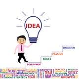 Επιχειρησιακές ιδέα και καινοτομία διανυσματική απεικόνιση