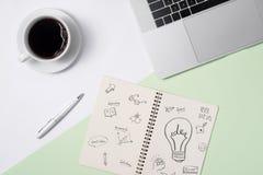 Επιχειρησιακές ιδέες, έννοιες δημιουργικότητας, έμπνευσης και ξεκινήματος, ι Στοκ φωτογραφία με δικαίωμα ελεύθερης χρήσης