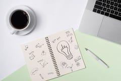 Επιχειρησιακές ιδέες, έννοιες δημιουργικότητας, έμπνευσης και ξεκινήματος, ι Στοκ εικόνα με δικαίωμα ελεύθερης χρήσης