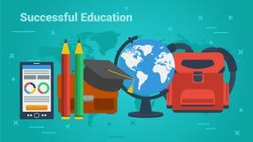Επιχειρησιακή έμβλημα-επιτυχής εκπαίδευση ελεύθερη απεικόνιση δικαιώματος