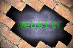 Επιχειρησιακή έννοια για τη ασφάλεια δεδομένων - τρύπα στο τουβλότοιχο με το δοχείο Στοκ εικόνες με δικαίωμα ελεύθερης χρήσης