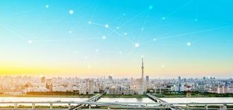 Επιχειρησιακή έννοια για τις πληροφορίες, επικοινωνία, τεχνολογία σύνδεσης στοκ εικόνες