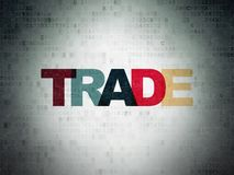 Επιχειρησιακή έννοια: Εμπόριο στο υπόβαθρο εγγράφου ψηφιακών στοιχείων Στοκ Εικόνα