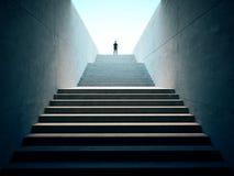 Επιχειρησιακή έννοια επιτυχίας Άνθρωποι που αναρριχούνται πάνω από τα σκαλοπάτια Στοκ Φωτογραφία