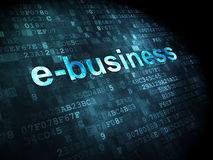 Επιχειρησιακή έννοια: Ηλεκτρονικό εμπόριο στο ψηφιακό υπόβαθρο διανυσματική απεικόνιση