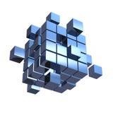 Επιχειρησιακή έννοια, κύβος που συγκεντρώνει από τους φραγμούς Στοκ Εικόνες