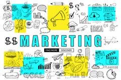 Επιχειρησιακή έννοια μάρκετινγκ με το ύφος σχεδίου Doodle: εύρεση του κολλοειδούς διαλύματος απεικόνιση αποθεμάτων