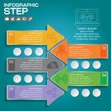 Επιχειρησιακή έννοια με τις 5 επιλογές, τα μέρη, βήματα ή διαδικασίες Στοκ εικόνα με δικαίωμα ελεύθερης χρήσης