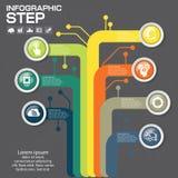 Επιχειρησιακή έννοια με τις 7 επιλογές, τα μέρη, βήματα ή διαδικασίες Στοκ Φωτογραφίες