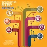 Επιχειρησιακή έννοια με τις 7 επιλογές, τα μέρη, βήματα ή διαδικασίες Στοκ Εικόνα