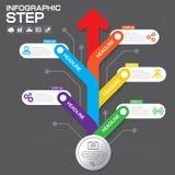 Επιχειρησιακή έννοια με τις 5 επιλογές, τα μέρη, βήματα ή διαδικασίες Στοκ φωτογραφία με δικαίωμα ελεύθερης χρήσης