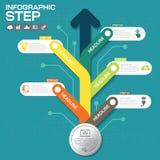 Επιχειρησιακή έννοια με τις 5 επιλογές, τα μέρη, βήματα ή διαδικασίες Στοκ Φωτογραφία