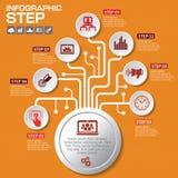 Επιχειρησιακή έννοια με τις 7 επιλογές, τα μέρη, βήματα ή διαδικασίες μπορέστε Στοκ φωτογραφία με δικαίωμα ελεύθερης χρήσης
