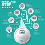 Επιχειρησιακή έννοια με τις 7 επιλογές, τα μέρη, βήματα ή διαδικασίες μπορέστε Στοκ εικόνα με δικαίωμα ελεύθερης χρήσης