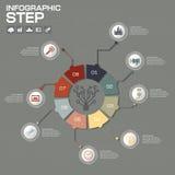 Επιχειρησιακή έννοια με τις 8 επιλογές, τα μέρη, βήματα ή διαδικασίες μπορέστε Στοκ εικόνα με δικαίωμα ελεύθερης χρήσης