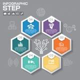 Επιχειρησιακή έννοια με τις 6 επιλογές, τα μέρη, βήματα ή διαδικασίες μπορέστε Στοκ εικόνα με δικαίωμα ελεύθερης χρήσης
